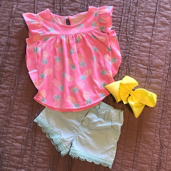 NWT Carter/'s Toddler Girls 2T 3T Lace Hem Tank Top Pink Cute For Summer